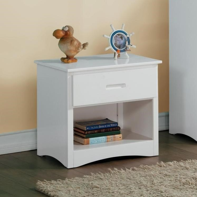 White Youth Night Stand by Home Style at Walker's Furniture