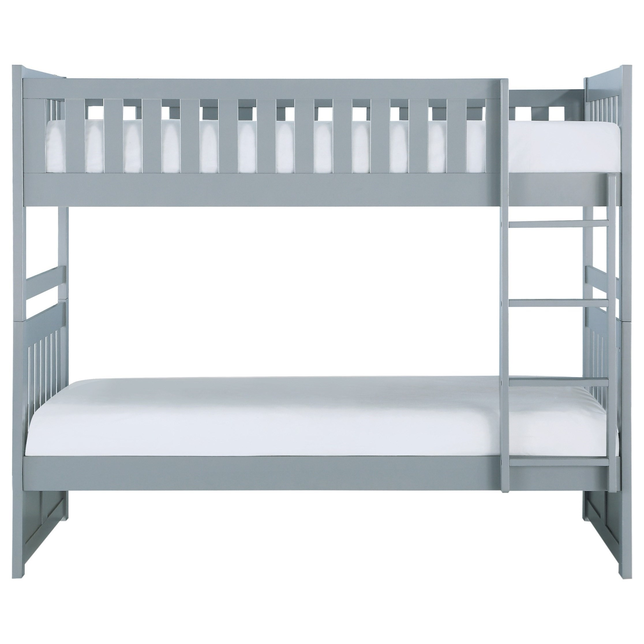 Gray Twin Over Twin Bunkbed by Home Style at Walker's Furniture