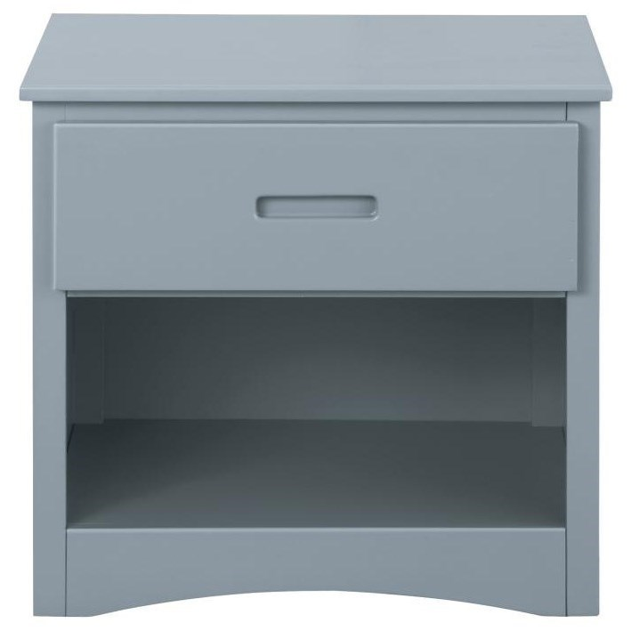 Gray Youth Night Stand by Home Style at Walker's Furniture