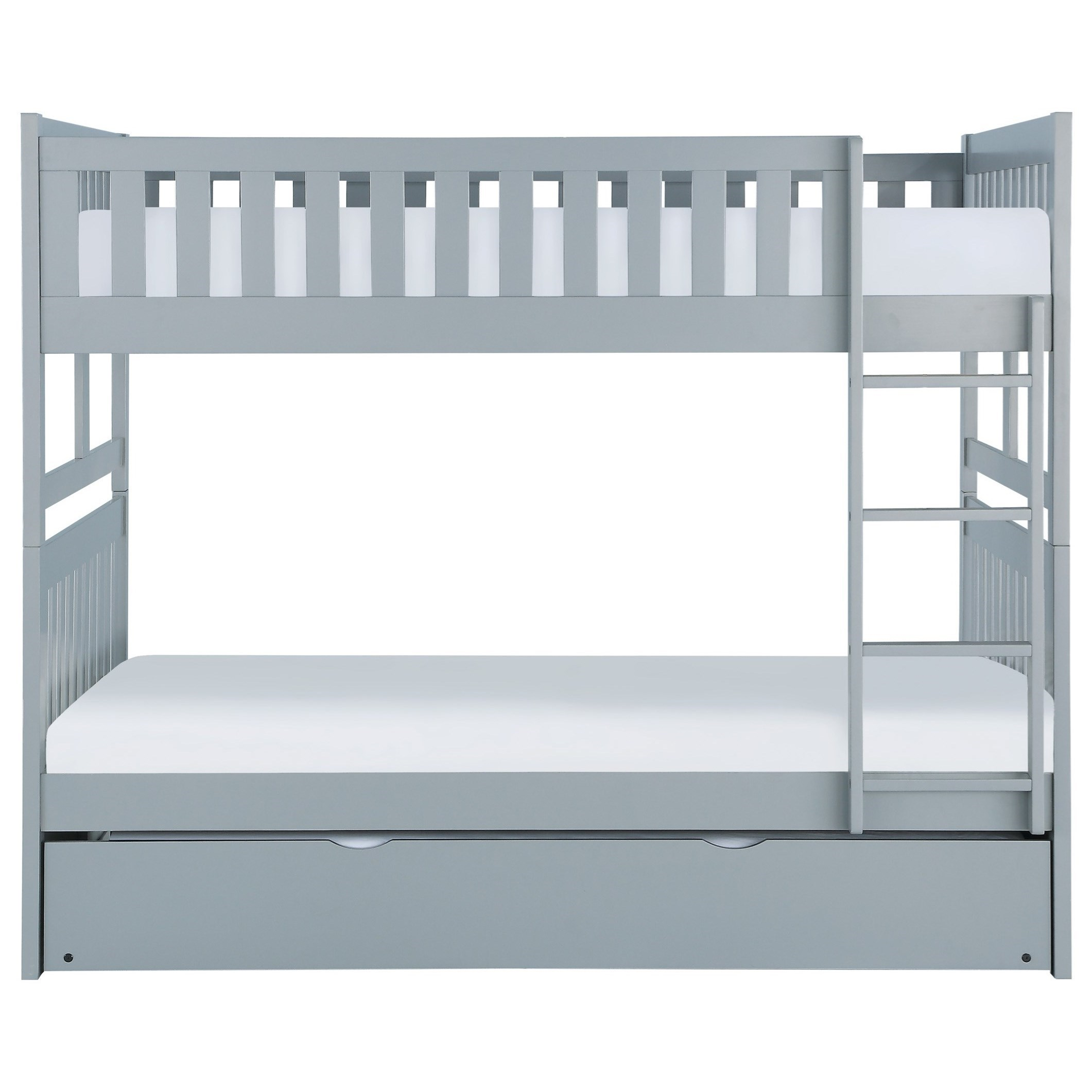 Gray Full Over Full Trundle Bunk Bed by Home Style at Walker's Furniture