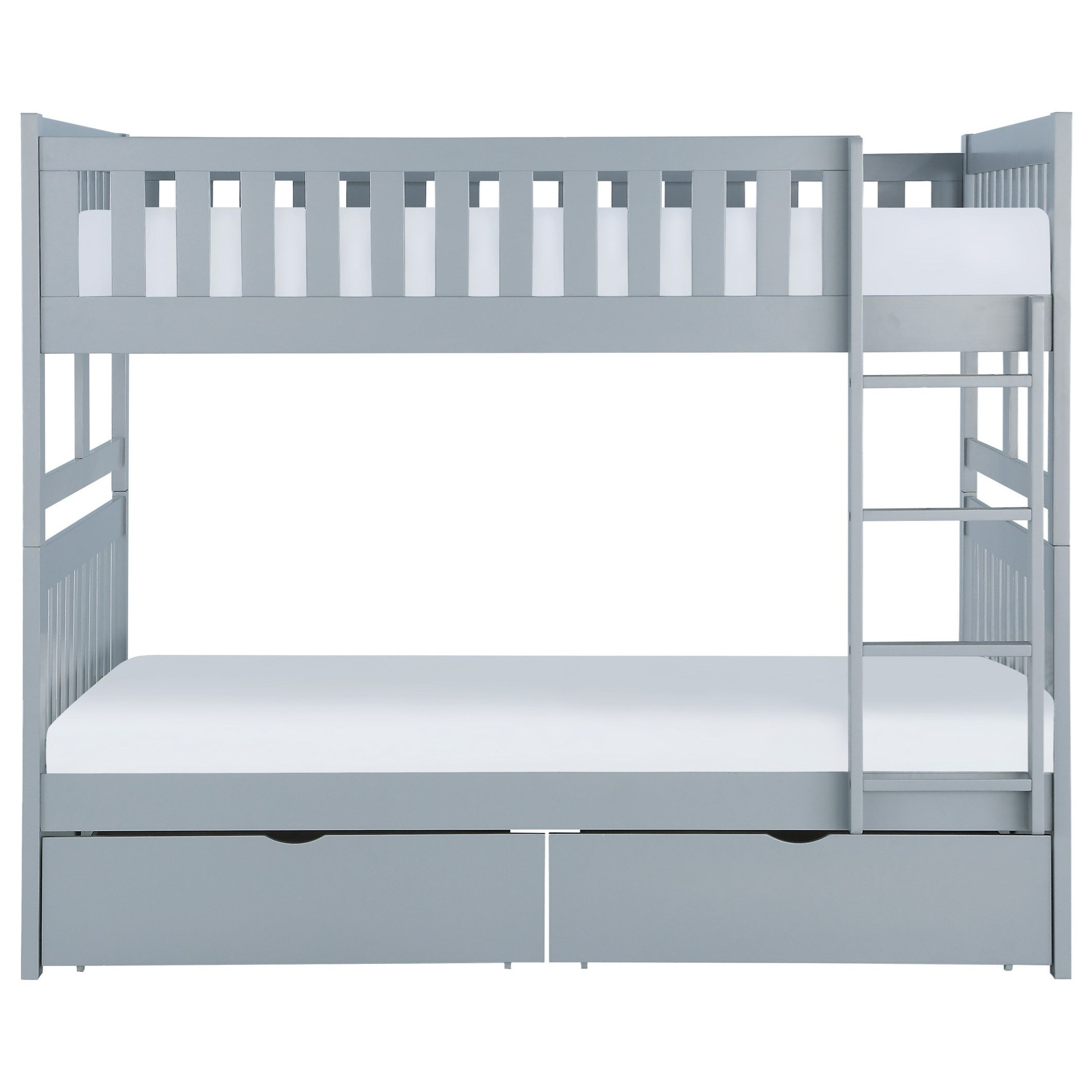Gray Full Over Full Storage Bunk Bed by Home Style at Walker's Furniture