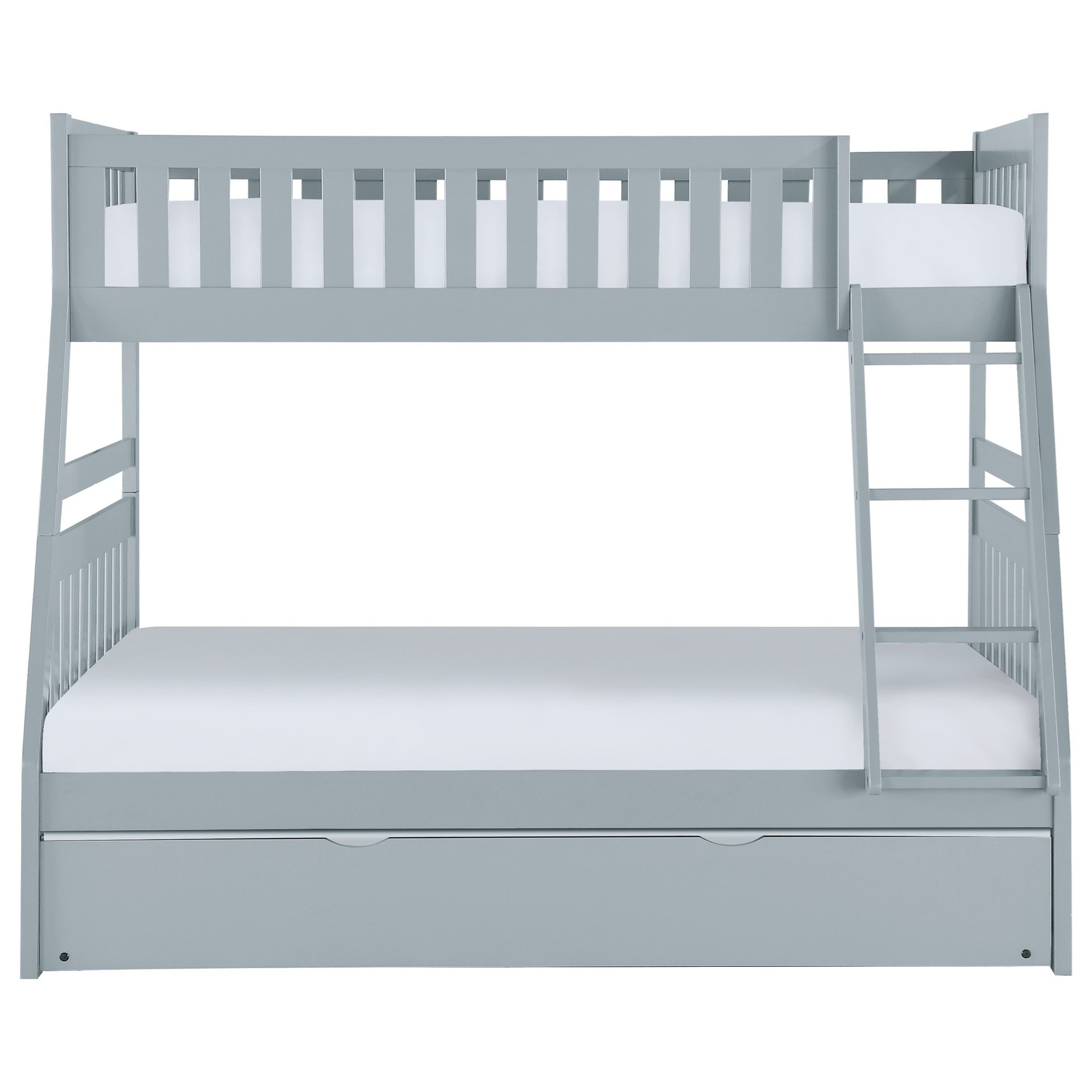 Orion Twin Over Full Trundle Bunk Bed by Homelegance at Simply Home by Lindy's