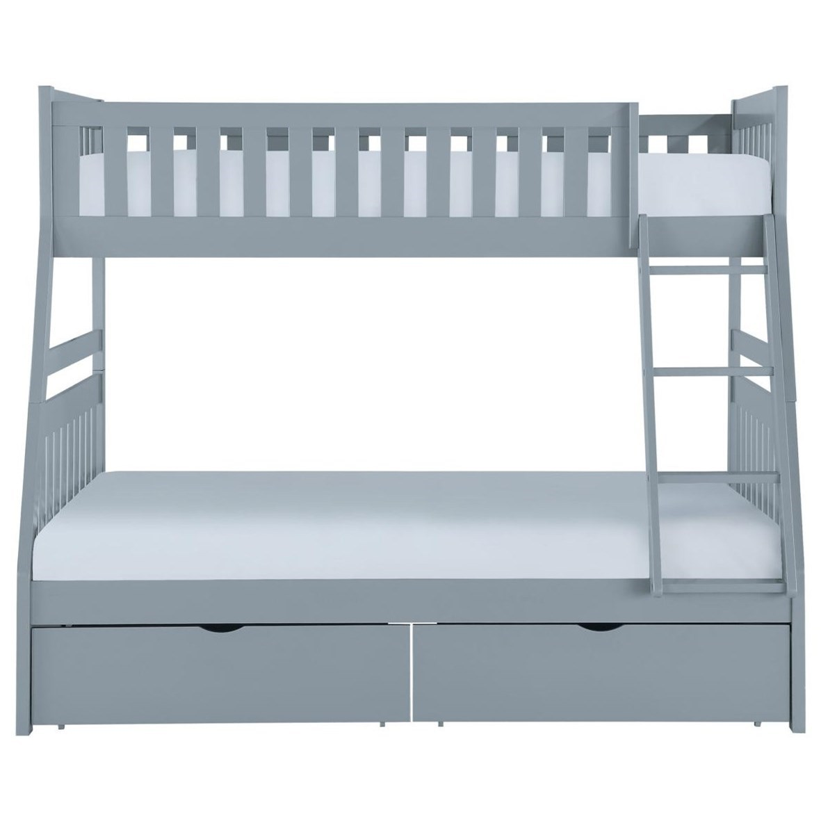 Gray Twin Over Full Storage Bunk Bed by Home Style at Walker's Furniture