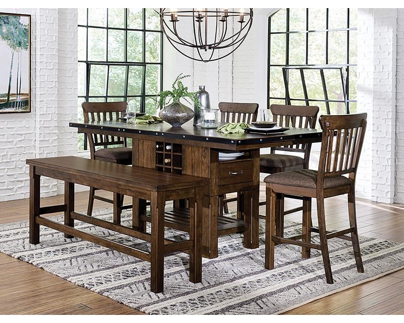 Schleiger 5 Piece Counter Height Dining Set by Homelegance at Darvin Furniture