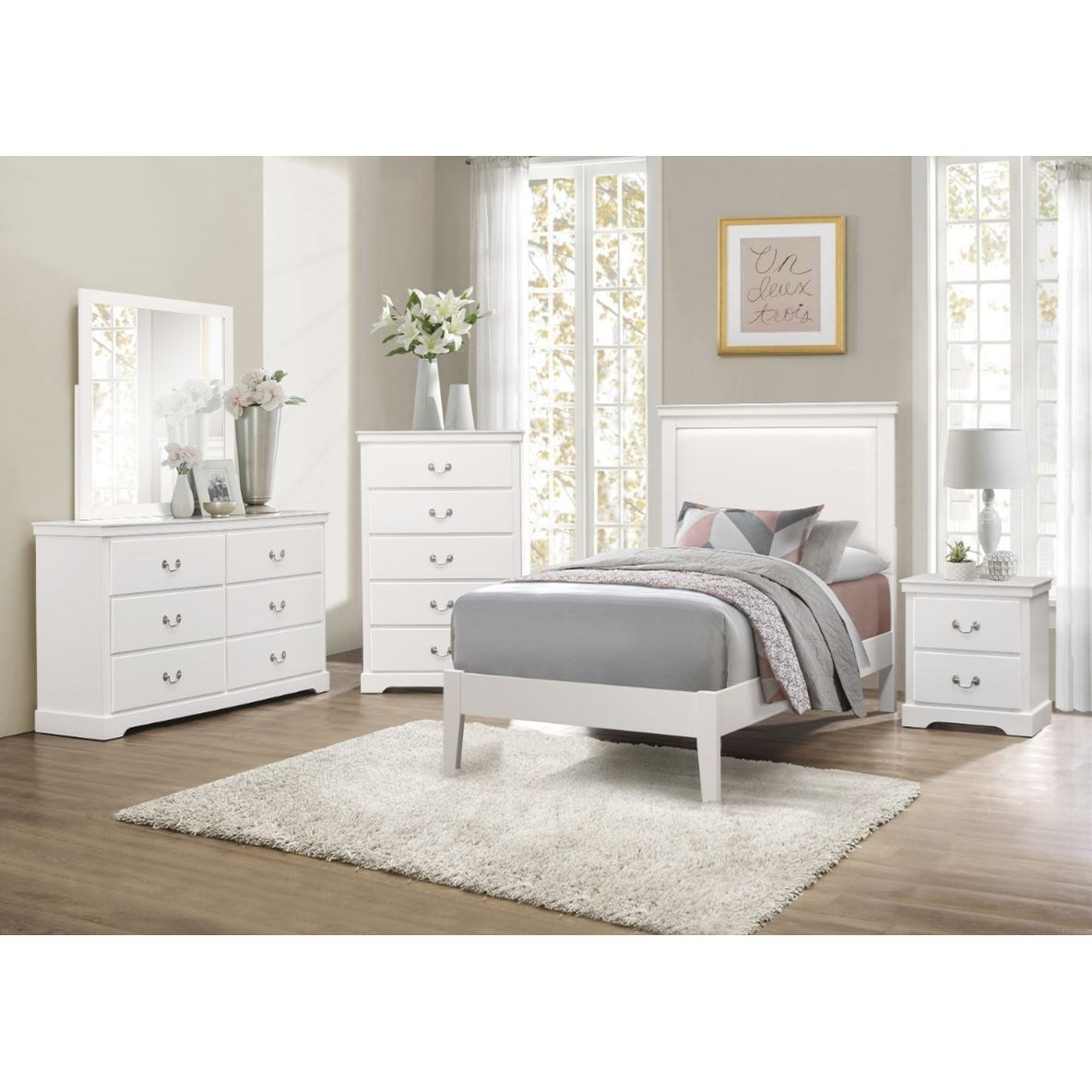 Seabright Twin Bedroom Group by Homelegance at Nassau Furniture and Mattress