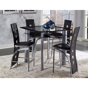 Contemporary Counter Height Table and Chair Set