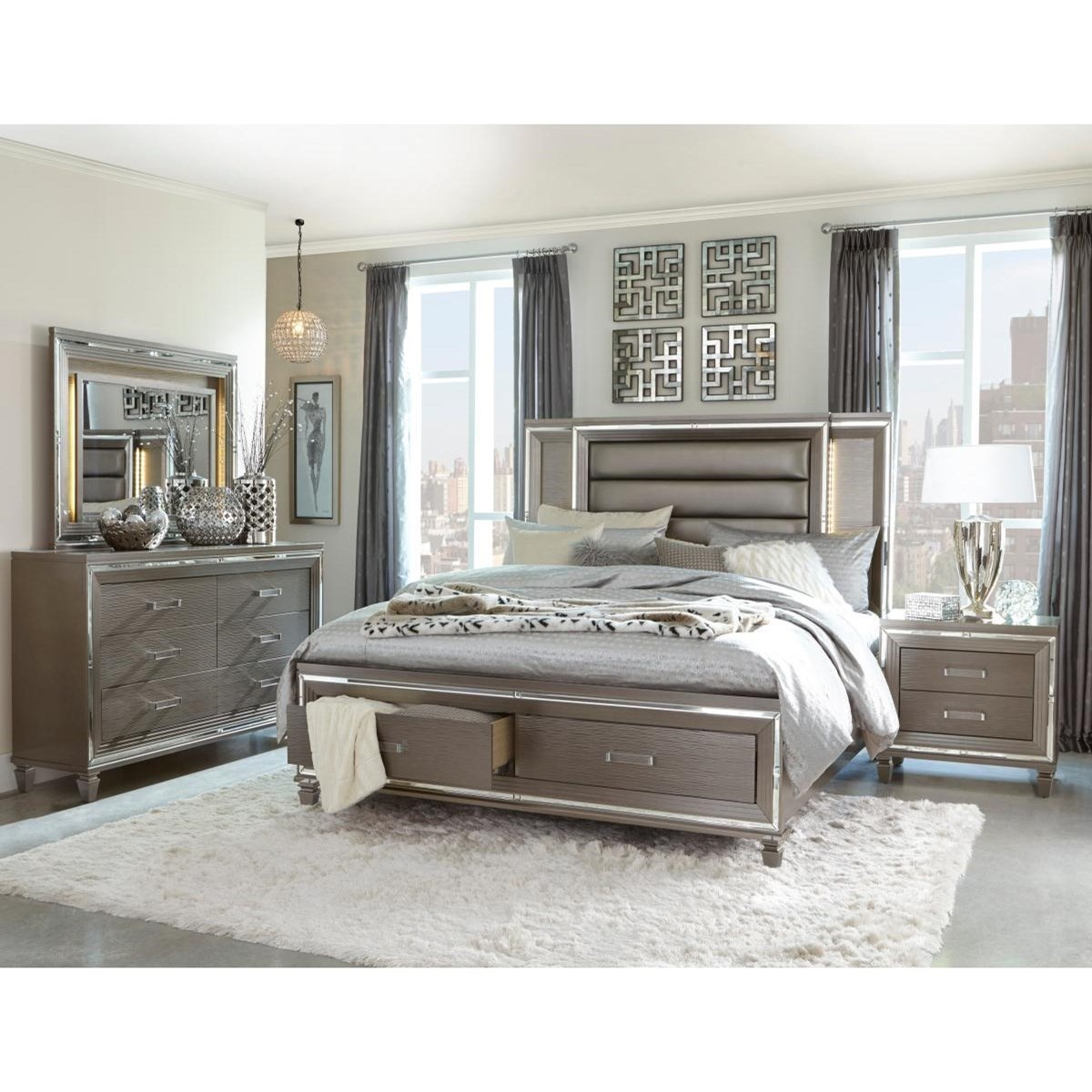 Tamsin King Bedroom Group  by Homelegance at Beck's Furniture