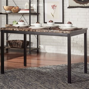 Casual Kitchen Table with Faux Marble Top