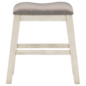 Transitional Counter Height Stool with Nailhead Trim