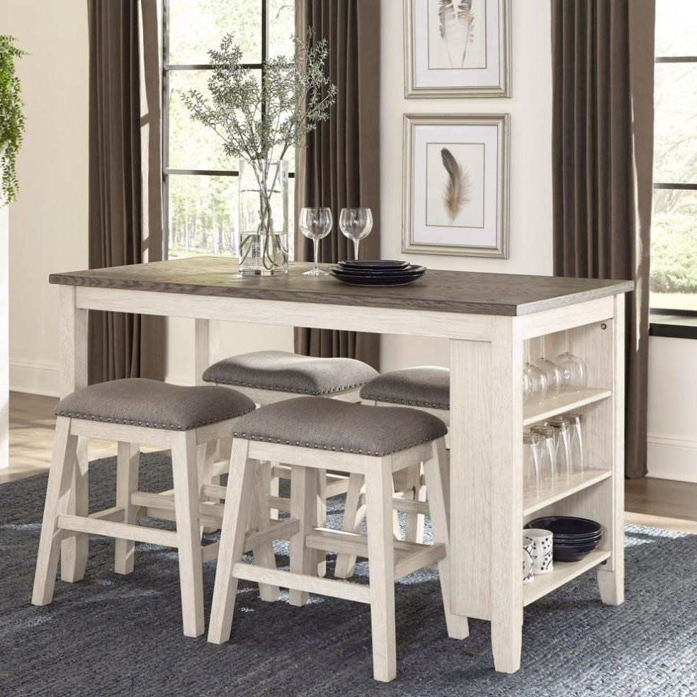 Timbre 5-Piece Counter Height Table Set by Homelegance at Beck's Furniture