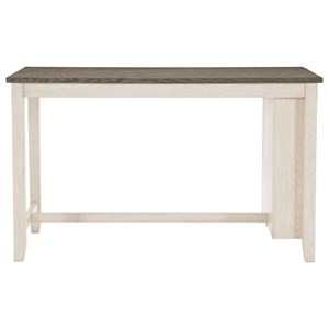 Casual Two-Tone Counter Height Table