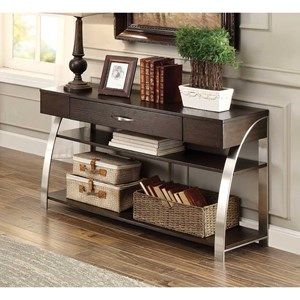 Contemporary Sofa Table with Functional Drawer