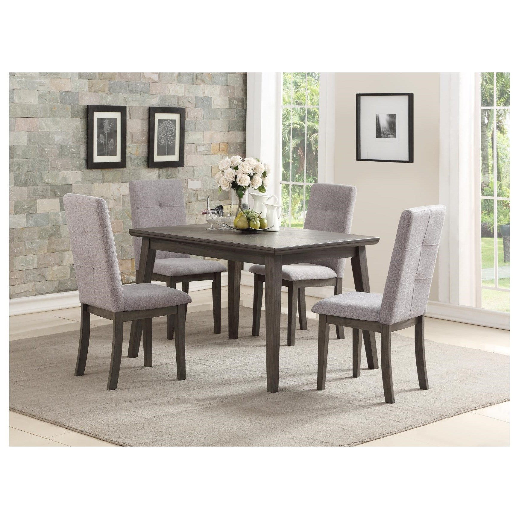 University 5 Piece Chair & Table Set by Homelegance at Beck's Furniture