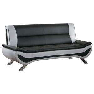 Contemporary Sofa with Chrome Legs