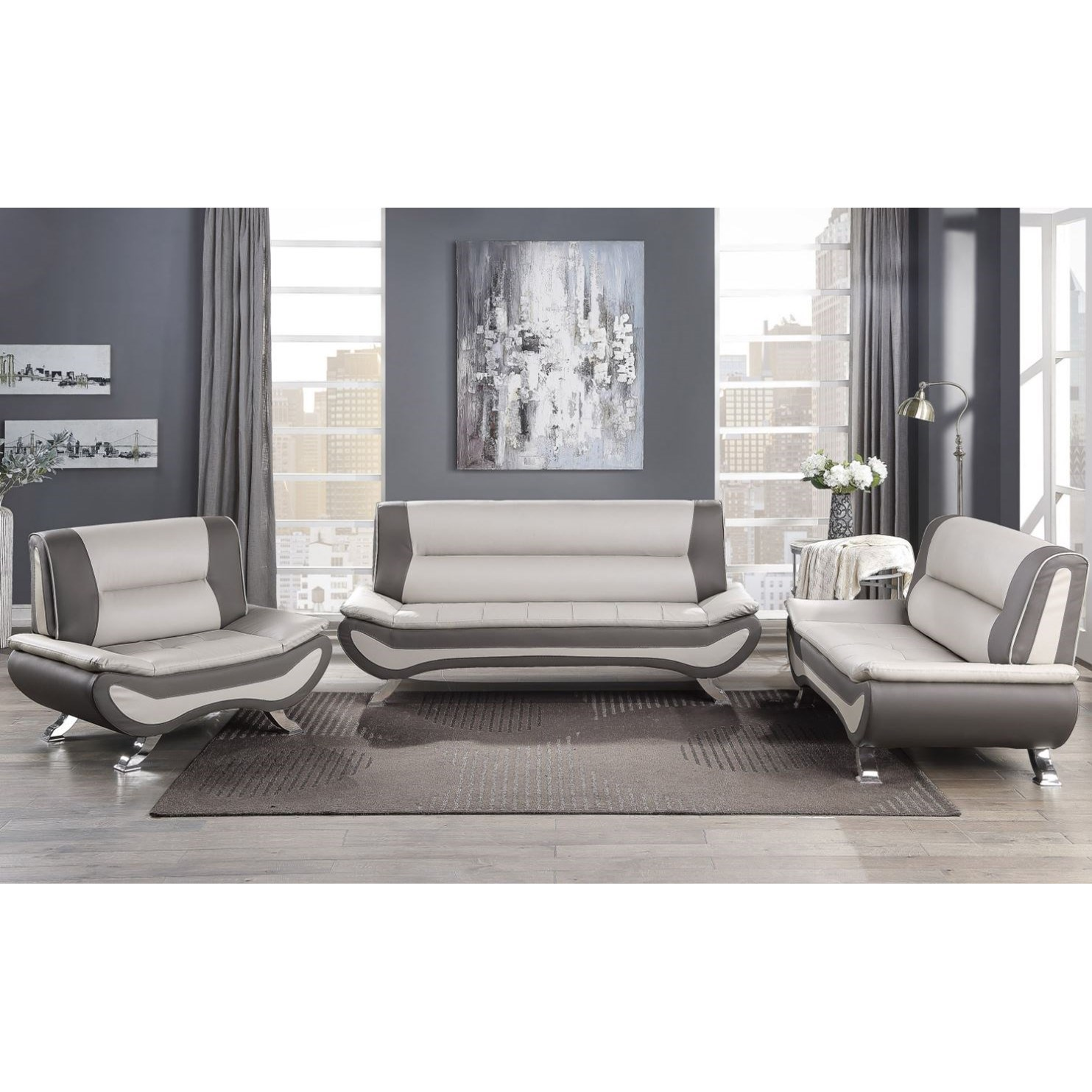Veloce Stationary Living Room Group by Homelegance at Lindy's Furniture Company