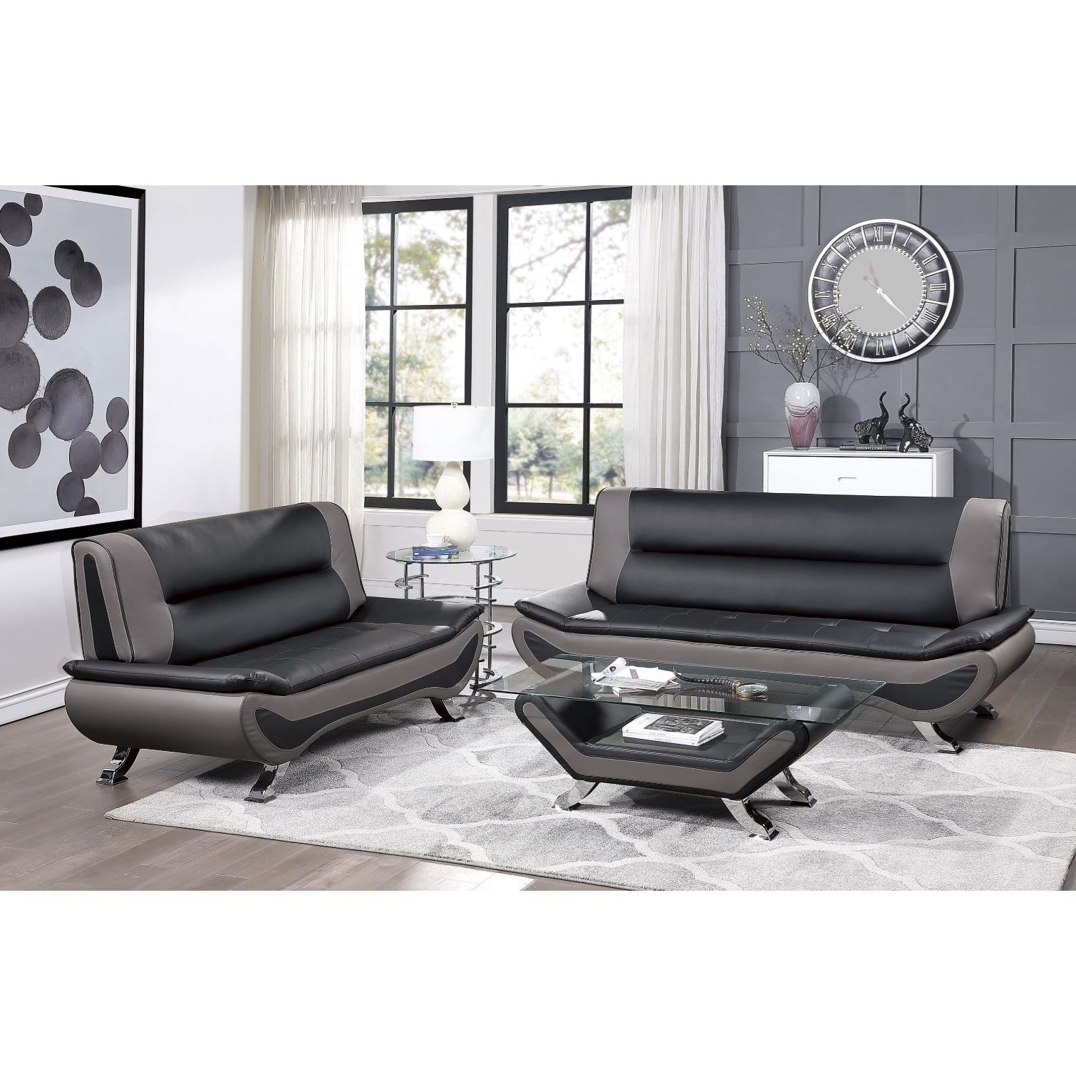 Veloce Stationary Living Room Group by Homelegance at Rife's Home Furniture