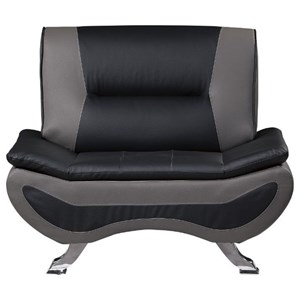 Contemporary Chair with Chrome Legs