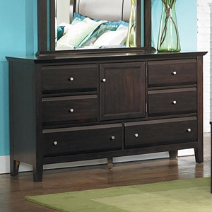 6-Drawer Dresser with Door