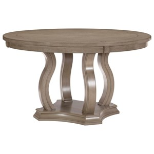 Transitional Round Dining Table with Pedestal Base
