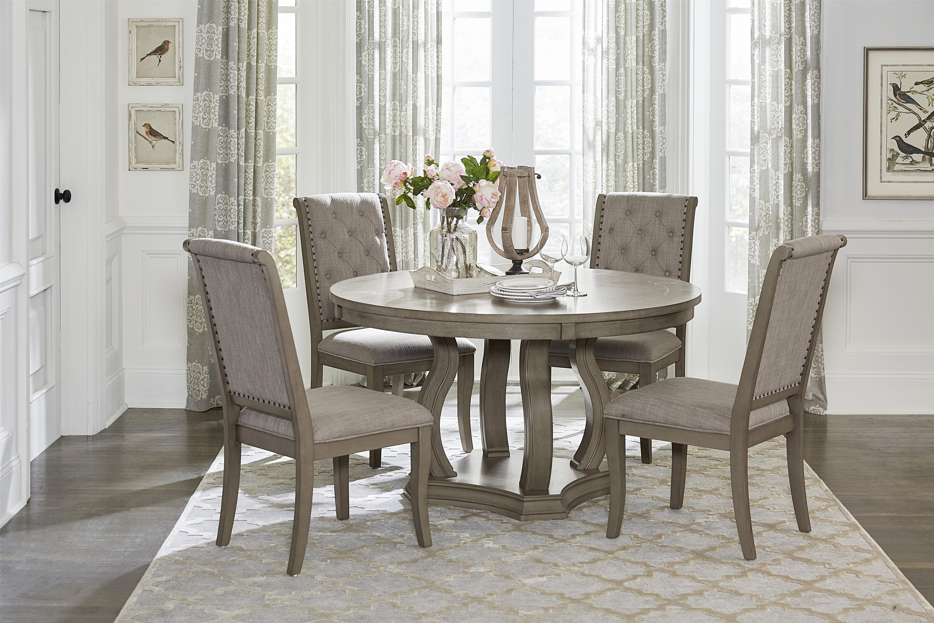 Vermillion 5-Piece Round Dining Table Set by Homelegance at Beck's Furniture