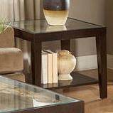 Square End Table w/ Glass Top
