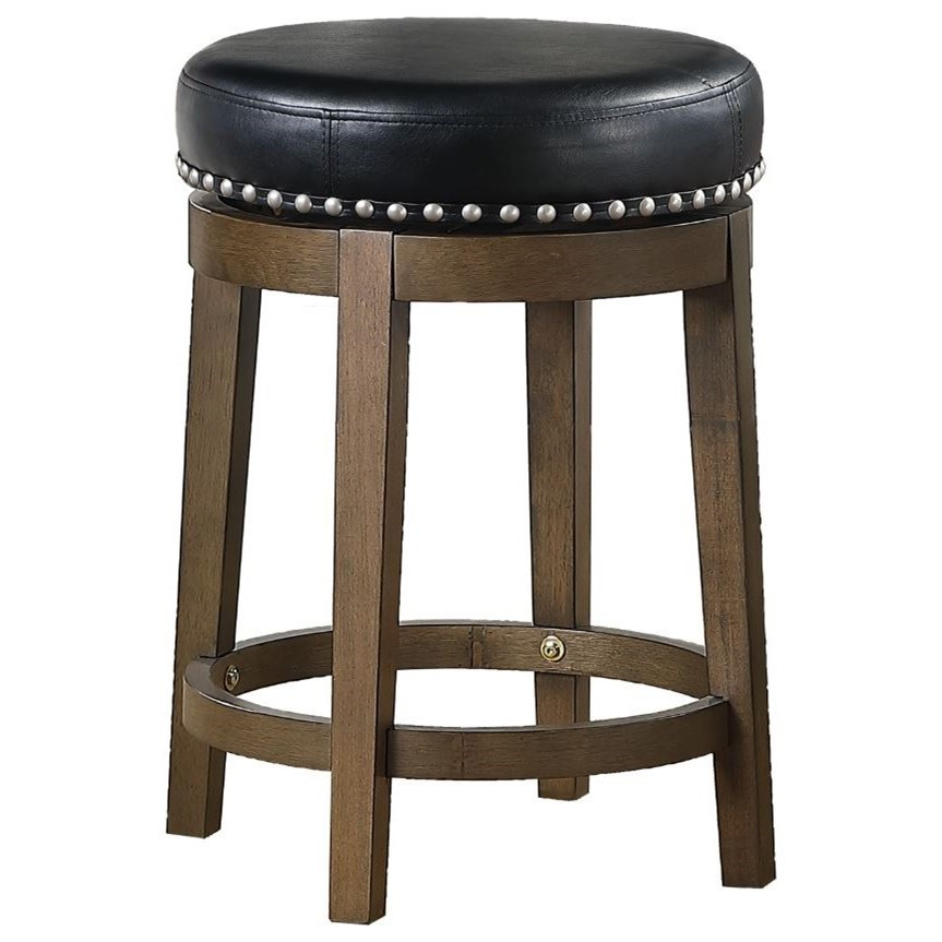 Westby Round Swivel Counter Height Stool by Homelegance at Simply Home by Lindy's