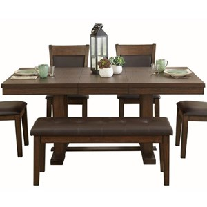 Transitional Dining Table with Leaf