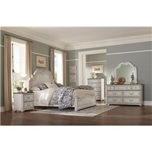 Antique White Queen Panhel Bed