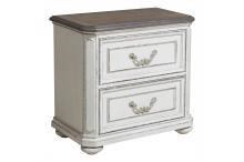 Antique White 2 Drawer Night Stand