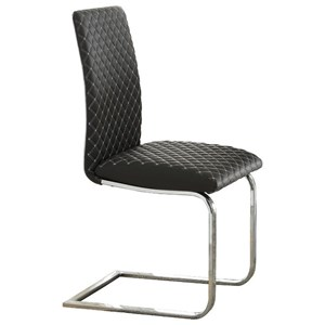 Contemporary Side Chair with Metal Base
