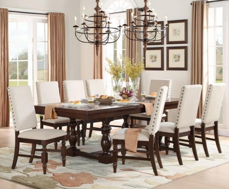 Yates  9 Piece Table & Chair Set by Homelegance at Carolina Direct