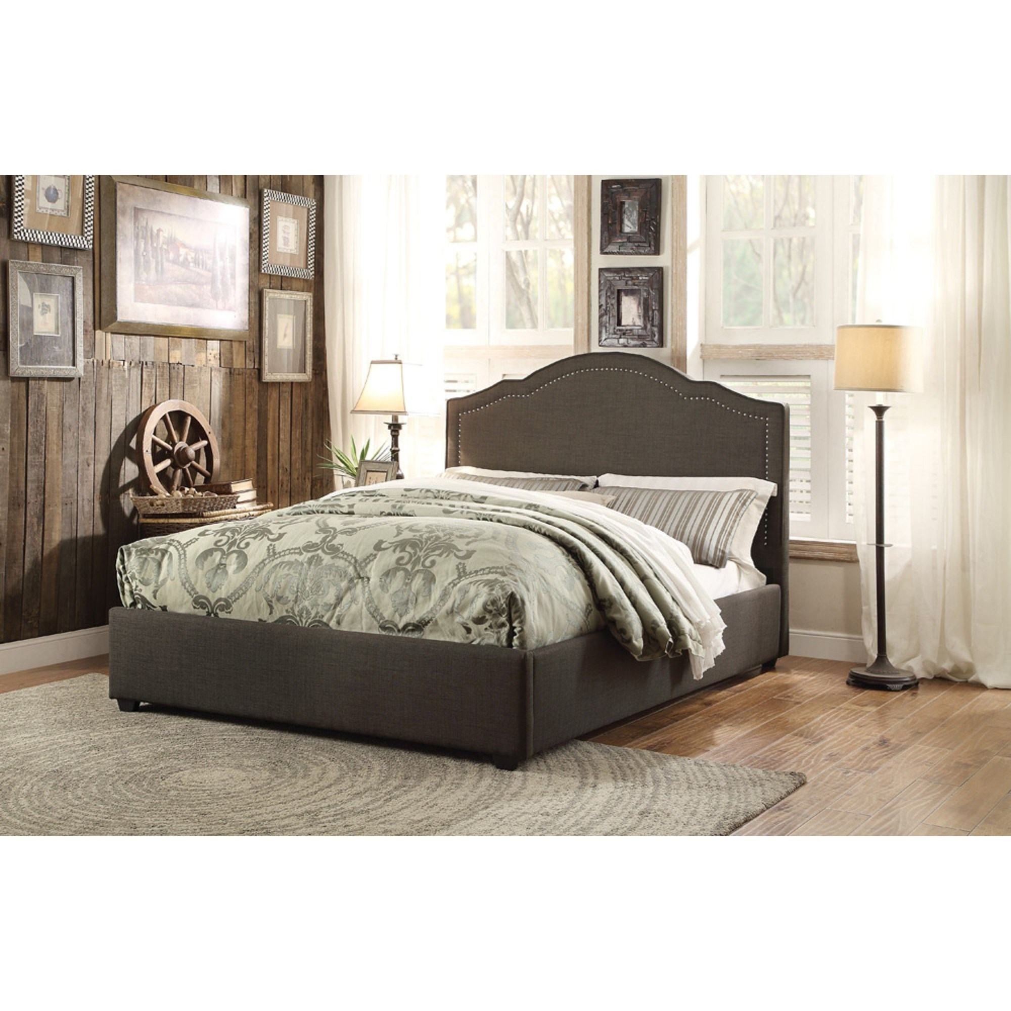 Zaira Queen Upholstered Bed by Homelegance at Carolina Direct