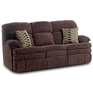 Double Reclining Sofa with Oversized Top Seat Cushion