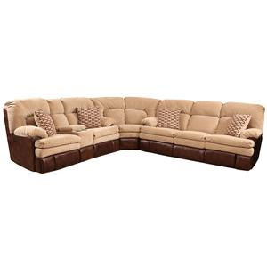 HomeStretch 103 3-Piece Reclining Sectional