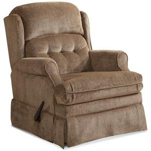 Casual Swivel Glider Recliner with Tufted Split Back