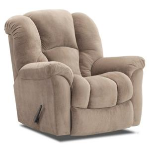 Casual Rocker Recliner with Bucket Seat