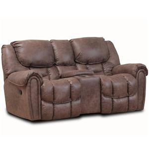 HomeStretch 122 Rocking Console Reclining Loveseat