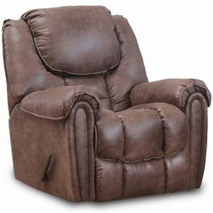 Casual Power Rocker Recliner with Pillow Top Arms