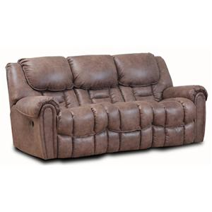 Double Reclining Sofa with Defined Headrest and Bucket Seat