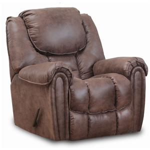 Rocker Recliner with Defined Headrest and Bucket Seat