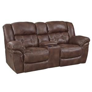 Casual Reclining Console Loveseat with Cupholders