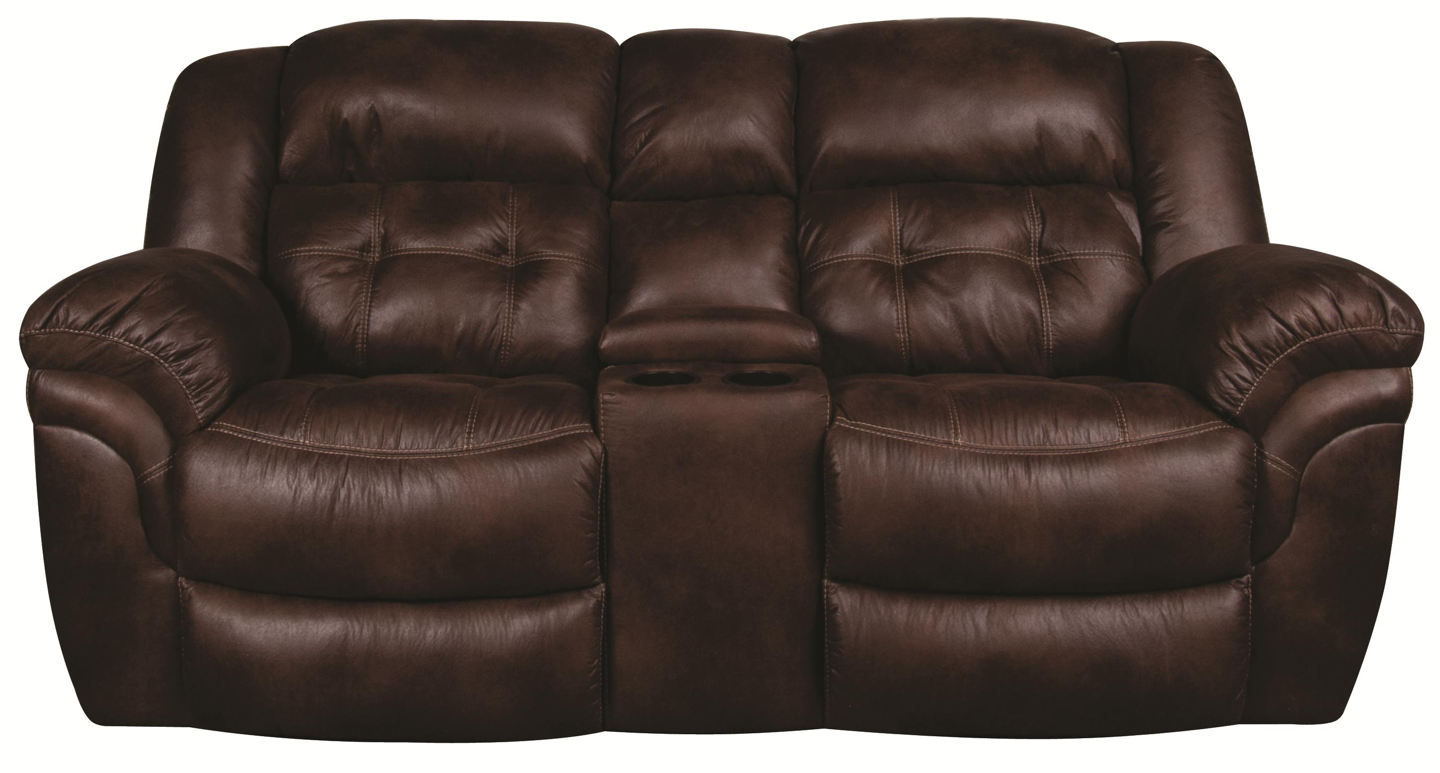 Elijah Elijah Reclining Loveseat with Console by HomeStretch at Morris Home