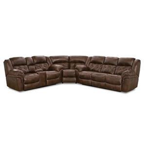 Casual Power Super-Wedge Sectional with Tufted Seats and Back