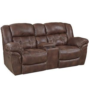 HomeStretch 129 Reclining Console Loveseat