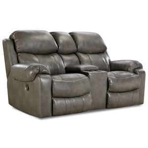 Power Reclining Loveseat with Center Console