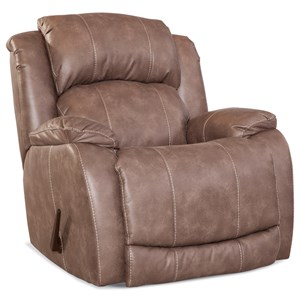 Casual Rocker Recliner with Pillow Top Arms