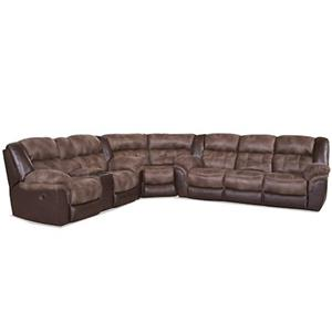 Casual Power Sectional with Storage Console and Cup Holders