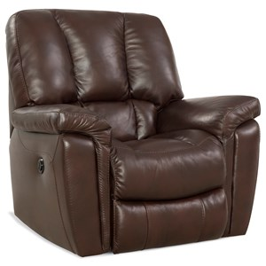 Casual Rocker Recliner with Scoop Seat