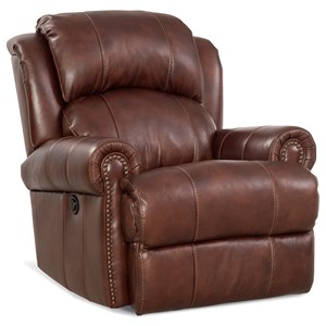 Traditional Rocker Recliner with Nail Head Trim