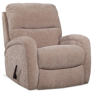 Recliner with Sloping Track Arms